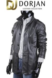 Płaszcz skórzany męski, czarne, długie, krótkie, modne